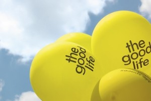 yellow balloons The Good Life